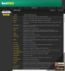 bet365 Horses Jockey Form
