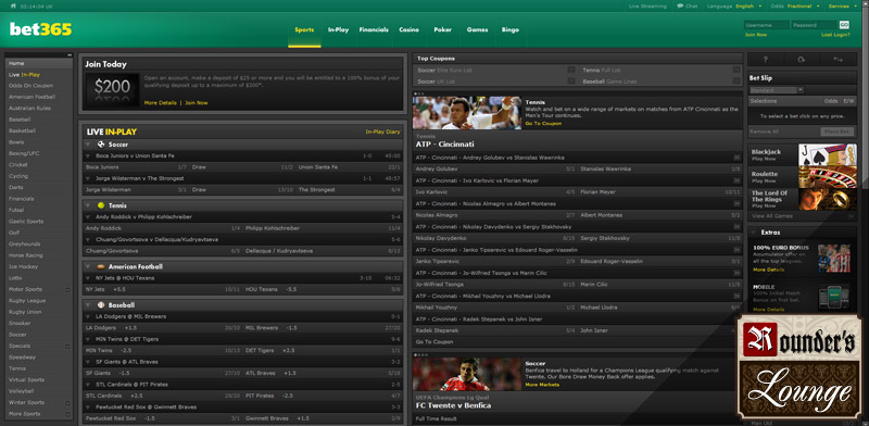 Bet365 Home Main Page