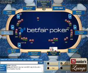 Live poker tournament clock