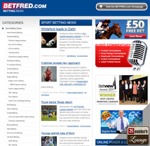 Betfred Sportsbook Sports News Page