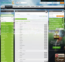 Betsson Sportsbook Football Betting