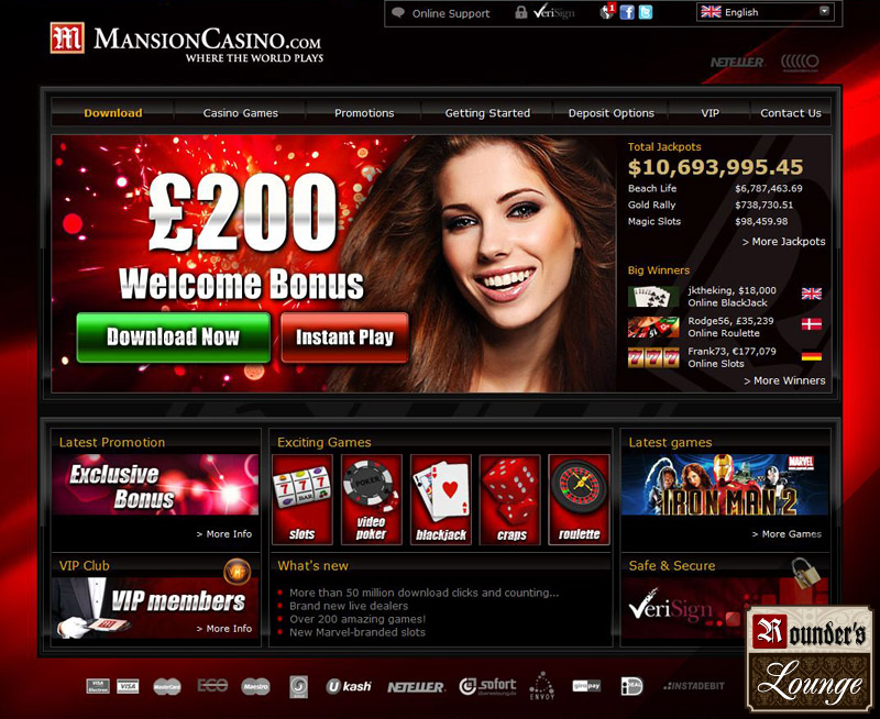 mansion online casino  games download