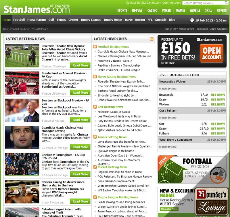 Stan James Sportsbook Review