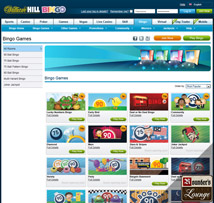 William Hill Bingo Games Page