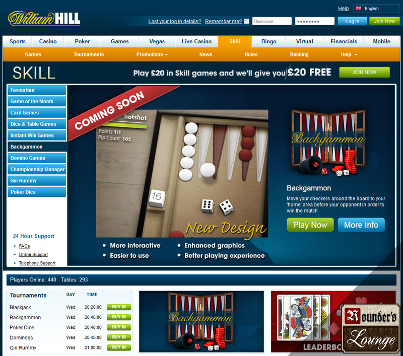 william hill backgammon