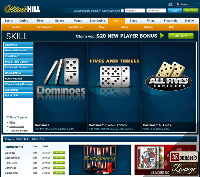 william hill games online