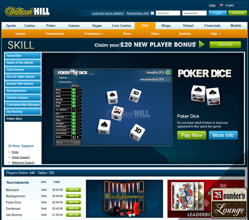 william hill online casino online dice